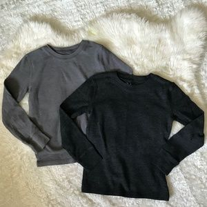 Lot/Bundle 2 Boys Gray Thermal Shirts